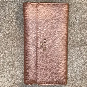 Pink/Rose Gold Guess wallet